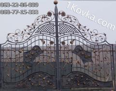Ворота для дома и дачи распашные кованые