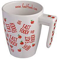 Cup ceramic white design 87746