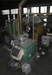 The furnace gas for melting and deduction of