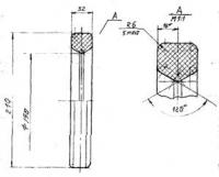 Кольцо для футеровки конвеерных роликов