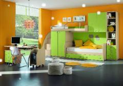 Детские комнаты сосотоящие из мебели игровой, развивающий, обучающий сектора и сектор для отдыха