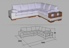 """Angular sofa """"A gentle touch"""
