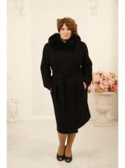 Красивое кашемировое пальто женское, Батал. цвет