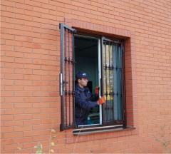 Стальные рещётки на окна распашные ShikMETAL.