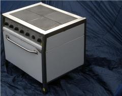 The electric stove with an oven