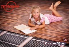 Heat-insulated floor. Infrared films of Calorique