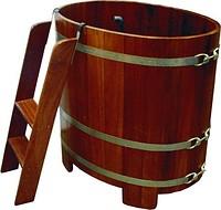 Barrel font for a sauna and a bath, restrooms.