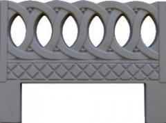 Форма для производства бетонных оградок
