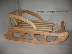 Санки дерев'яні