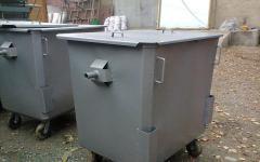 Металлические мусорные контейнеры 750 литров, 1