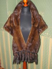 Норковая шаль
