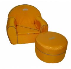 Детское мягкое кресло и пуф Tako