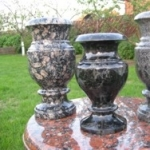 Vases from a stone carved