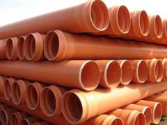 Sewer pipes from the made foam polyvinylchloride
