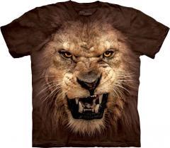 3d Big Face Roaring Lion t-shirt - 2014 a code