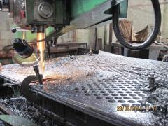 Production of pipe boards (lattices)