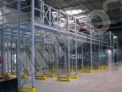 Racks are mezzanine