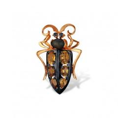 Jeweler brooch from red gold 585 of test with a