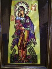 Картина на стекле Марія з Ісусом