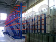 Storage racks for storage of cores