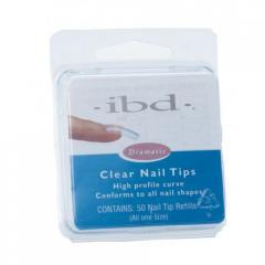 Типси IBD Clear Nail Tips #1 Refill