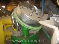 The equipment for filling of vegetable weight,