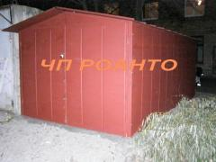 The garage is new, from ferrous metal to a wall 1,5mm and a roof of 1,2 mm, only 22900 UAH!