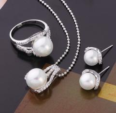 Набор украшений:кольцо, кулон, серьги, покрытие -