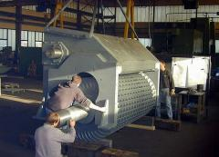 Hydraulic turbines flowing Ossberger systems