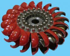 Bucket hydroturbines (Pelton's turbine)