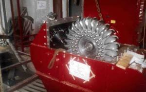 Pelton turbine (Pelton's turbine) horizontal