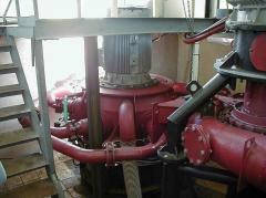 Pelton turbine (Pelton's turbine) vertical