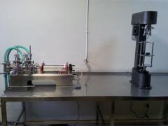 Line of flood of liquid products