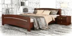 Двуспальная кровать Венеция из массива бука