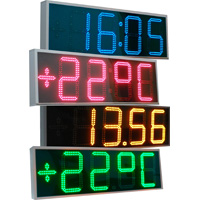 Digital LED watch - the thermometer street