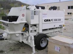 Stationary CIFA 506 concrete pump
