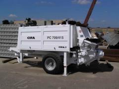Concrete pumps (Construction equipment, Machines