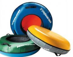 Cheese cakes, tyuba, snoutyuba, inflatable sledge,