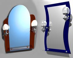 Дзеркало з полицею для ванної кімнати