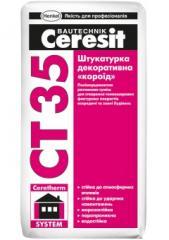Plaster decorative bark beetle of Ceresit CT 35