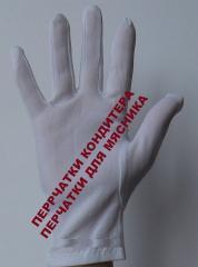 Перчатки нейлоновые шитые для кондитера, для