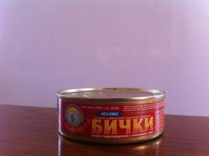 Bull-calves azovo-Black Sea in tomato sauce