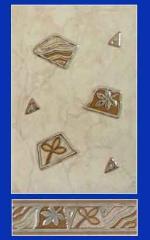 Бордюр керамический, декор керамический, фриз