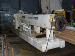 Worm extruder (press), for production of films of