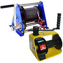Winches are manual, collars, brashpil manual
