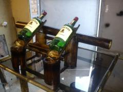 Бамбукові підставки під пляшки.