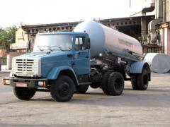 Semi-trailer tank of the cement truck of