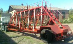Semi-trailer concrete panel trailer