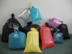 Bags polyethylene various sizes and flowers, for