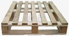 Pallets are wooden por